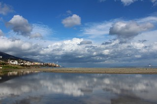 Bastia vue de la plage de l'Arinella