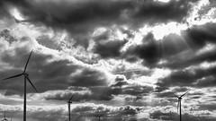 Himmel über Brandenburg (micagoto) Tags: brandenburg clouuds sky energiewende windenenergie