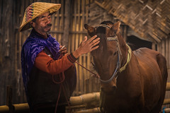 Horse breeder from Tengger, Indonesia. (tehhanlin) Tags: bromo humaninterest indonesia portraitofindonesia surabaya horse breeder horsebreeder people portrait places portraits travel ngc farmer bromotenggersemerunationalpark sony