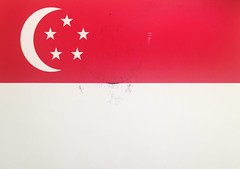 (katrintm) Tags: postcrossing postcard singapore flag