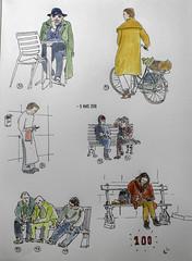 Oneweek100people (chando*) Tags: aquarelle croquis oneweek100people sketch watercolor