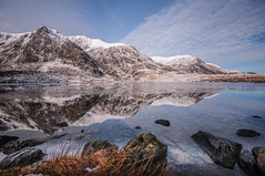 Calm (Einir Wyn Leigh) Tags: landscape reflection mountains lake raw nature natural blue wales walking march love clouds rocks outside