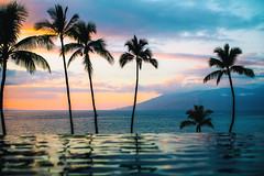 Another Chance (Thomas Hawk) Tags: america fourseasons fourseasonsmaui fourseasonsresort hawaii maui usa unitedstates unitedstatesofamerica wailea infinitypool pool serenitypool sunset swimmingpool kihei us fav10 fav25 fav50 fav100