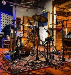 Keeper of the Beat (Pennan_Brae) Tags: microphones microphone studiolife instrument recording recordingsession recordingstudio percussion musicphotography musicstudio ludwigdrums drumming drumkit drumset drummer drums