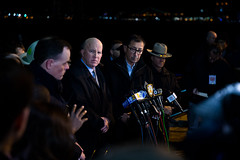 New York City Police Department Commissioner James P. O'Neill and New York City Fire Department Commissioner Daniel Nigro deliver an update on the helicopter crash in the East River on Sunday, March 11, 2018. Benjamin Kanter/Mayoral Photo Office. (nycmayorsoffice) Tags: availability commissioner danielnigro fd firefighters jamespo'neill manhattan nyc newyork newyorkcity newyorkcityfiredepartment newyorkcitypolicedepartment newyorkcitypolicedepartmentcommissionerjamespo'neill newyorkcounty pd press pressconference cop cops fdny fire nypd police unitedstates us