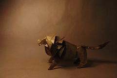 Lion (Arturo-) Tags: leão lion origami dobradura papel dourado golden hideo komatsu works paper animal