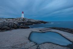 Peggy's Cove, Nova Scotia (B.E.K. Photography) Tags: peggys cove lighthouse sky clouds water rocks ocean longexposure outdoor landscape seascape puddle novascotia canada nikond600 nikon173528