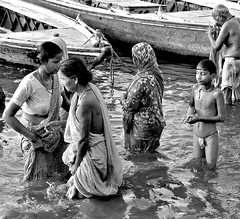 Morning pray (BockoPix) Tags: morningprayinriverganges varanasi pray ganges morning river pudja people prayer pilgrims bath bank boat