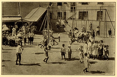 [Children on playground swing sets and maypole swing] (State Library of Massachusetts) Tags: children playground swings swingsets maypoleswing
