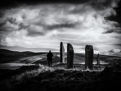 The Ring of Brodgar 2 (Feldore) Tags: orkney ring brodgar stone circle standing stones islands mysterious archaeological archaeology feldore mchugh em1 olympus 1240mm man figure scotland scottish