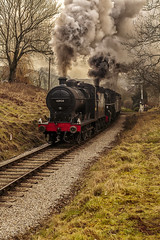 KWVR 2018_03_11_197 (Phil_the_photter) Tags: steam steamengine steamloco steamrailway steamgala kwvr keighley 70013 olivercromwell black5 blackfive 44871 oakworth coaltank 1054 7f 53808 oxenhope