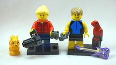 Brick Yourself Custom Lego Figure Birdwatching Couple