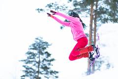 Jumping with snowshoes (VisitLakeland) Tags: snowshoe nature winter snow active tahko finland lumi aktiviteetti outdoor talvi