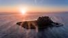 Mouse Island (JoshyWindsor) Tags: aerialphotography atmospheric drone landscape ionianislands agnitravel monastery mist sunrise fog greece phantom4 streaks corfu pontikonisiisland
