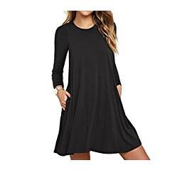 ffbdbd70b79d Get offers on Unbranded  Women s Long Sleeve Pocket Casual Loose T-Shirt  Dress (