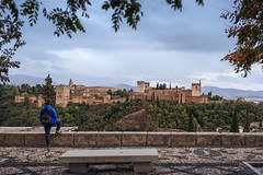 Alhambra desde San Nicolas (Antonio_Luis) Tags: alhambra albayzin albaicin mirador san nicolas skyline patrimonio humanidad unesco alcazaba muralla turismo turista nublado granada andalucia monumento
