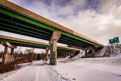 Exit 8 (Nicholas Erwin) Tags: exit8 bridge road interstate highway architecture winter snow berlin montpelier vermont vt unitedstatesofamerica usa america cold urban contrast nikon d610 nikkor 2018g fav10 fav25 street
