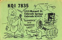 892160 (myQSL) Tags: cb radio qsl card 1970s