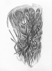 Do not listen to your masks - Miquel Àngel Pintanel (Pintanescu) Tags: drawing pencildrawing art sketch surrealism surreal mask portrait expressionism expressionist confusion illusion trees branches roots rawart darkart