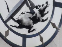 Banksy Clock Rat Running on Closed Bank Building 8357 (Brechtbug) Tags: clock rat running closed bank building banksy sidewalk wall painting the west side corner downtown 6th ave 14th street 03182018 graffiti arts midtown manhattan new york city 2018 nyc art artist artwork silhouette anonymous brit british english uk united kingdom residency mystery exit through gift shop 2014 sixth avenue fourteenth st