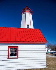 Can You See Me Now (jah32) Tags: light lighthouse lakeerie red cmwdred blueskies white portburwell ontario canada redandwhite