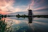 Kinderdijk (Pastel Frames Photography) Tags: netherlands holland windmill travelphotography photography canon5dmark3 canon1635mm water river sky clouds sightseeing