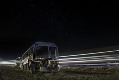 GalaxyGreyhound (jdnelms62) Tags: abandonedcars trucks ruraltexas nightphotography paintingwithlight freight trains bus
