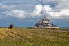 Vue sur le mont (Lucille-bs) Tags: europe france normandie manche montstmichel paysage champ cielbleu nuage