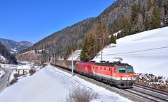ÖBB 1144 226 + 1116 063 Wolf (tobias.unsin) Tags: locomotive lok logistik landschaft alps austria bahn brenner öbb mountain railway rail railroad train zug güterzug