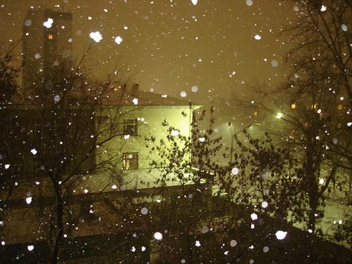 Снегопад со вспышкой ©  ayampolsky