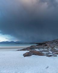 Dawn Storm (seankerrphotography) Tags: 2018 garkcloud westernisles tràighrosamol landscape harris scotland sunrise dawn snow storm seascape february luskentyre isleofharris outerhebrides