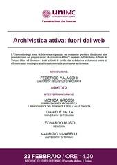 Archivistica attiva fuori dal web Torino