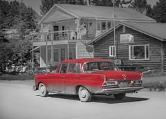 IMG_2927.jpg (Edie Mendenhall) Tags: alaska thisislife mercedes s islandbound seldovia backintime old car yesternothingschanged vintagecar auto antique automobile 220 red