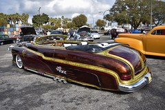 Blood Drive Car Show 2018 (USautos98) Tags: 1950 mercury fatboy leadsled traditionalhotrod streetrod kustom