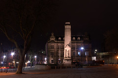 Preston Cenotaph at night (Tony Worrall) Tags: preston lancs lancashire city england regional region area northern uk update place location north visit county attraction open stream tour country welovethenorth nw northwest britain english british gb capture buy stock sell sale outside outdoors caught photo shoot shot picture captured architecture building centre night evening lit lights slae outdoor bright dim illuminated harrishotel cenotaph memorial monument lamp flagmarket