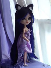 Lady in Purple (♪Bell♫) Tags: pullip naomi momoko yoko groove doll kitsune
