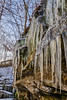 Dressed up for winter (tquist24) Tags: cuyahoganationalpark cuyahogavalleynationalpark hdr nikon nikond5300 ohio outdoor cliff cold fence geotagged ice icicle icicles nature park rocks sky tree trees winter northfield unitedstates