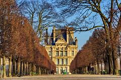 469 Paris en Février 2018 - dans le Jardin des Tuileries, avec Le Louvre au fond (paspog) Tags: paris france jardindestuileries jardin parc park louvre terrasse février february februar 2018