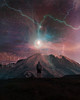 Stella (ItalianCandy) Tags: photoshop photoediting manipulation music cover stella stern mountain man lightning sun colors sky immensity star etoile composition miracle pain suffering self spirit