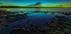 Canoe Point, Tannum Sands on sunset (cantdoworse) Tags: sunset tannum sands canoe point qal queensland alumina gas lng sea rocks landscape canon 6d australia coast sand beach