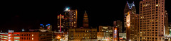 Downtown Detroit Skyline (Victor Dvorak) Tags: detroit michigan panorama downtown skyline buildings architecture longexposure nightphotography nikon d300s 20mmf28d
