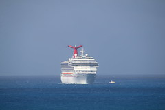 Celebrity Equinox and the Carnival Conquest at Philipsburg, St. Maarten - February 20, 2018