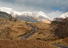 Long and winding road (Hugh Stanton) Tags: road highlands mountains snow capped