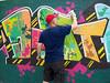 Desta (DestaOne) Tags: crib graffiti desta destaone hornsby art tuxanspray tuxan krylon sydney spraypaint staterailauthourity cityrail grafcazza character westleigh newtown belton customcaps graffiticaps nike portraitart