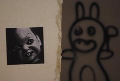DeepRed sticker (nothinginside) Tags: profondorosso profondo rosso deep red deepred decay decadence derelict ruin rudere darioargento argento dario goblin jerma hotel albergo abandoned abbandonato malta 2018 marsaskala popart pop art sticker graffiti murales pupazzo doll horror ap