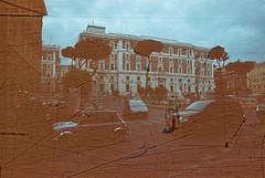 Roma (Streak) (goodfella2459) Tags: nikon f4 af nikkor 24mm f28d lens revolog streak 200 35mm c41 film analog roma city buildings cars road italy rome