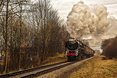 KWVR 2018_03_11_033 (Phil_the_photter) Tags: steam steamengine steamloco steamrailway steamgala kwvr keighley 70013 olivercromwell black5 blackfive 44871 oakworth coaltank 1054 7f 53808 oxenhope