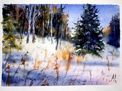 2044 (Мария Юрист) Tags: акварель enterclass watercolor landscape light свет пейзаж