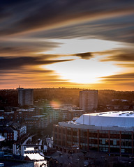 Sunset over Birmingham from the Library of Birmingham (magpiedom) Tags: library birmingham sunset golden hour landscape nikon 85mm f18 gitzo tripod long exposure