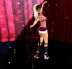 Moulin Rouge (saphir shamen) Tags: avatar maitreya fashion laq tatoo hair blog blogger créations catseye dress redfish life outfit secondlife high heels shoes skin skirt look sl mesh meshhead women top sr second swallow socks breathe foxy muka littleparis moulin rouge